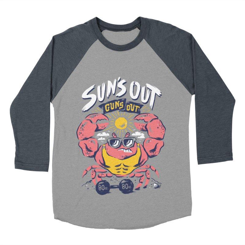 Suns Out Guns Out 2 Women's Baseball Triblend Longsleeve T-Shirt by CPdesign's Artist Shop