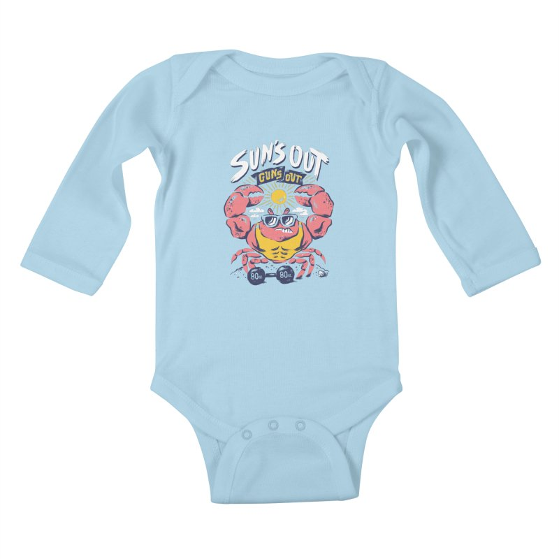 Suns Out Guns Out 2 Kids Baby Longsleeve Bodysuit by CPdesign's Artist Shop