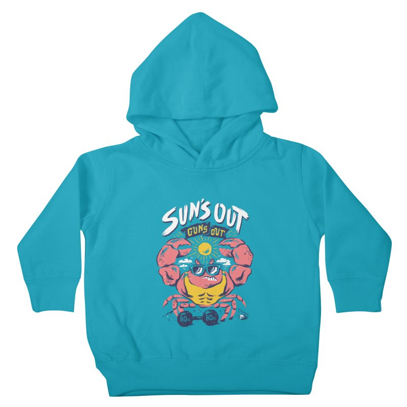 Suns Out Guns Out 2 Kids Toddler Pullover Hoody by CPdesign's Artist Shop