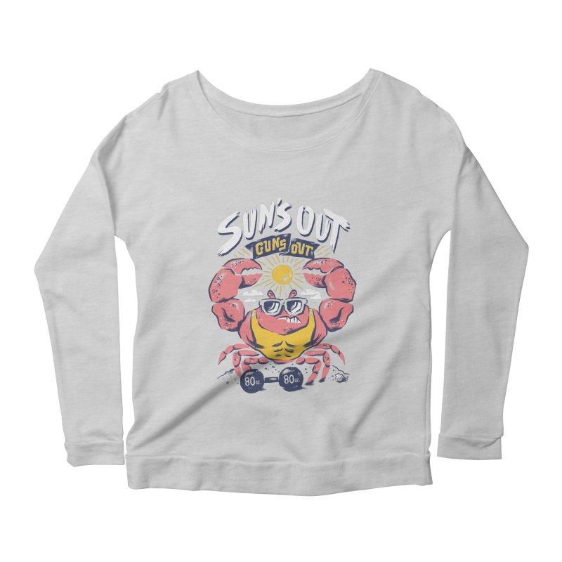Suns Out Guns Out 2 Women's Longsleeve Scoopneck  by CPdesign's Artist Shop