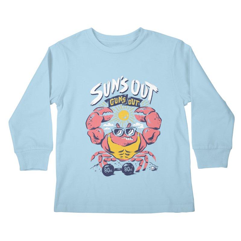 Suns Out Guns Out 2 Kids Longsleeve T-Shirt by CPdesign's Artist Shop