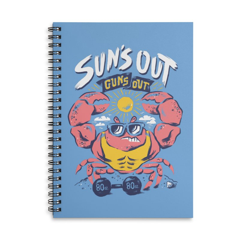 Suns Out Guns Out 2 Accessories Lined Spiral Notebook by CPdesign's Artist Shop