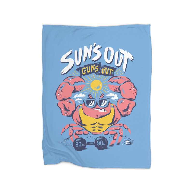 Suns Out Guns Out 2 Home Fleece Blanket by CPdesign's Artist Shop