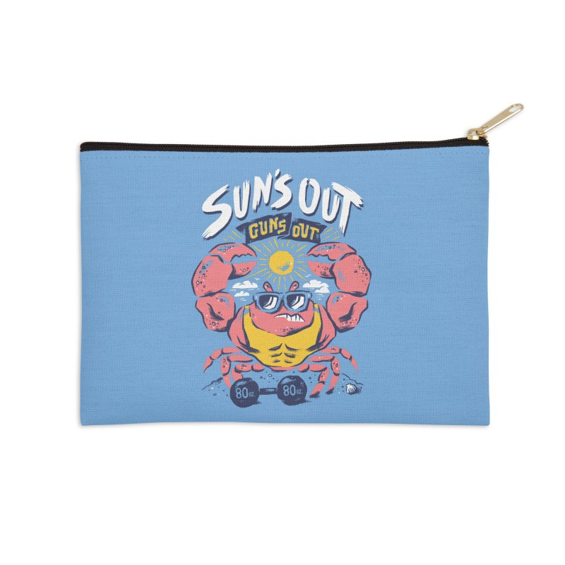 Suns Out Guns Out 2 Accessories Zip Pouch by CPdesign's Artist Shop