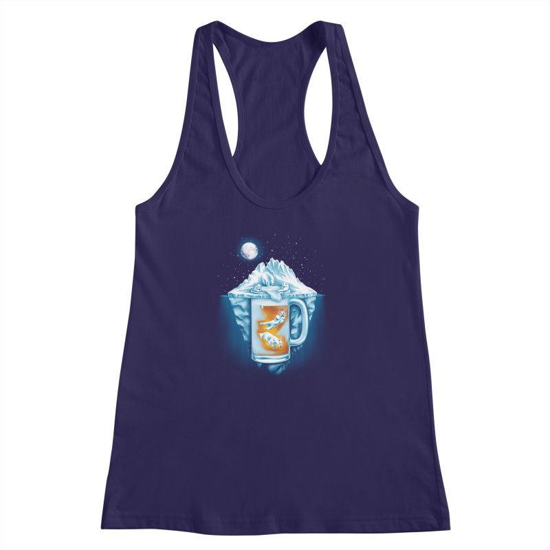 The Polar Beer Club Women's Racerback Tank by CPdesign's Artist Shop