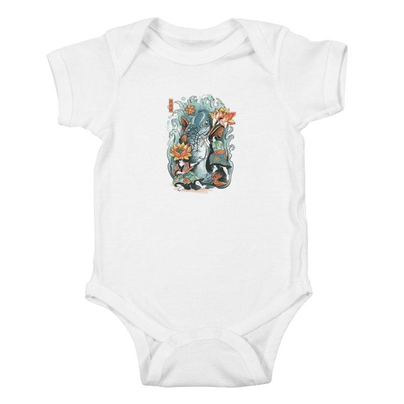 Make Art Not War Kids Baby Bodysuit by CPdesign's Artist Shop