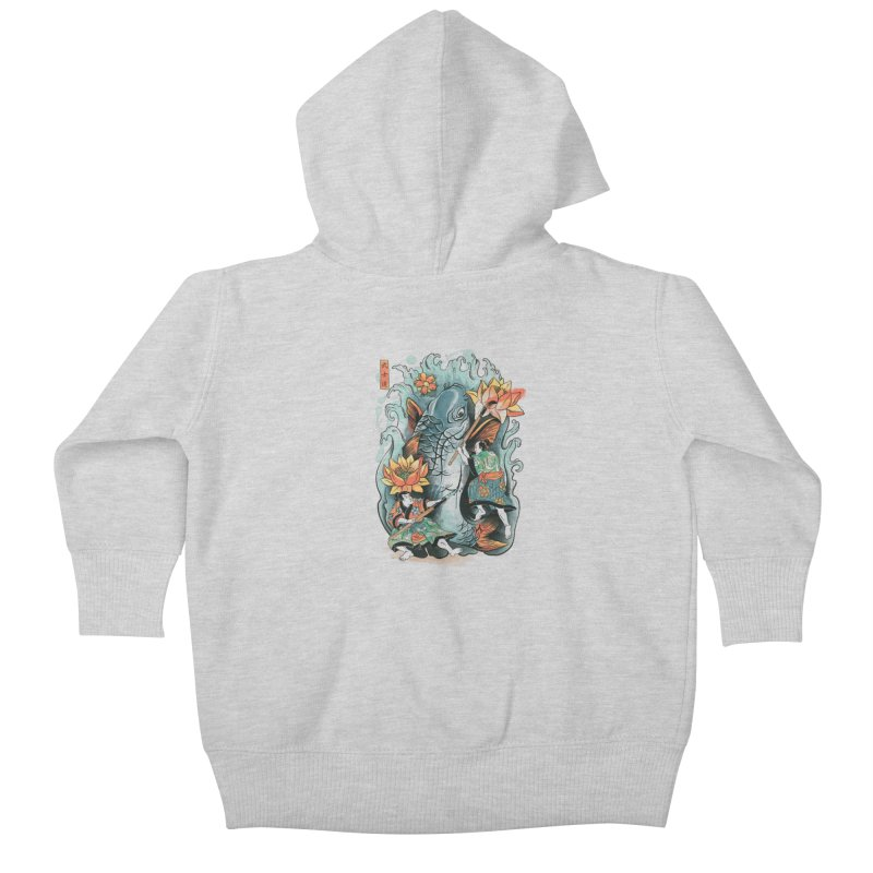 Make Art Not War Kids Baby Zip-Up Hoody by CPdesign's Artist Shop
