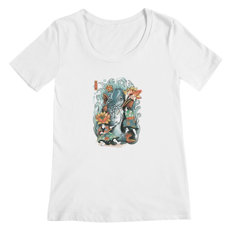 Make Art Not War Women's Scoopneck by CPdesign's Artist Shop