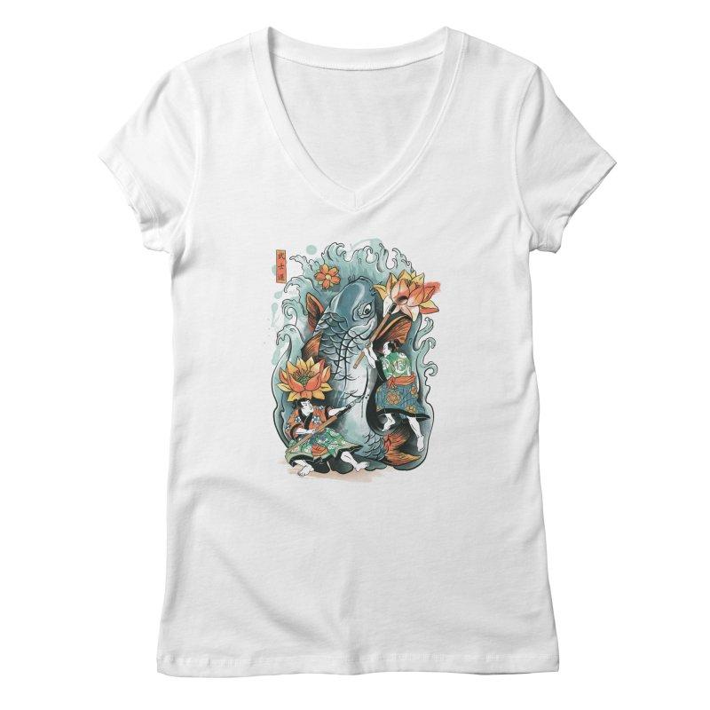 Make Art Not War Women's V-Neck by CPdesign's Artist Shop