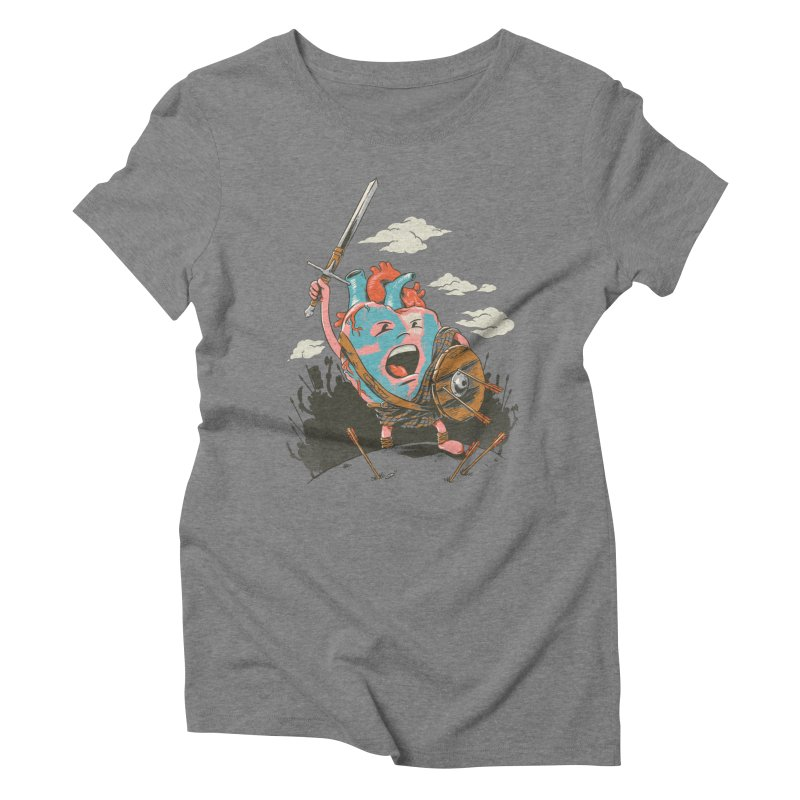 Braveheart Women's Triblend T-shirt by CPdesign's Artist Shop