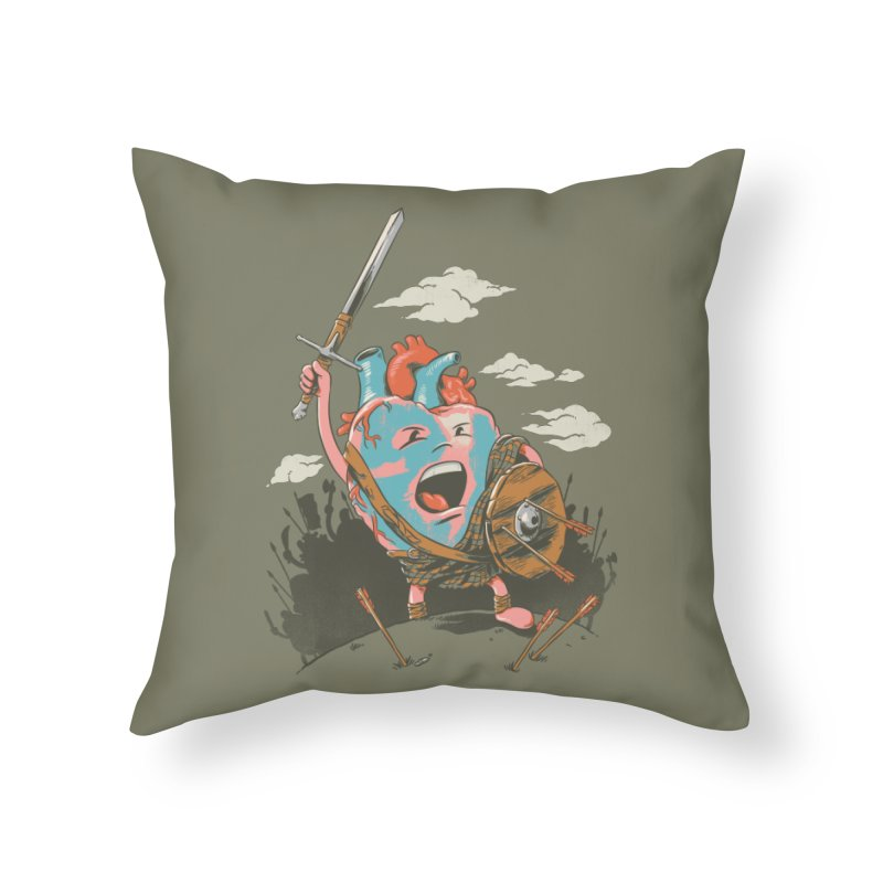 Braveheart Home Throw Pillow by CPdesign's Artist Shop