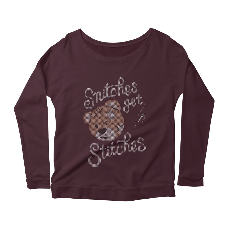Snitches Get Stitches Women's Longsleeve Scoopneck  by CPdesign's Artist Shop