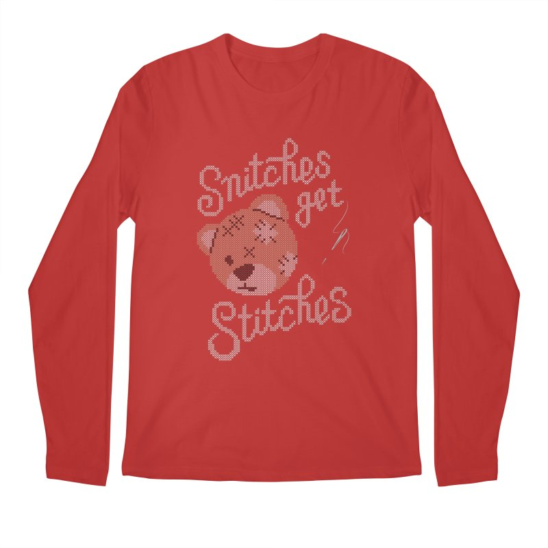 Snitches Get Stitches Men's Longsleeve T-Shirt by CPdesign's Artist Shop