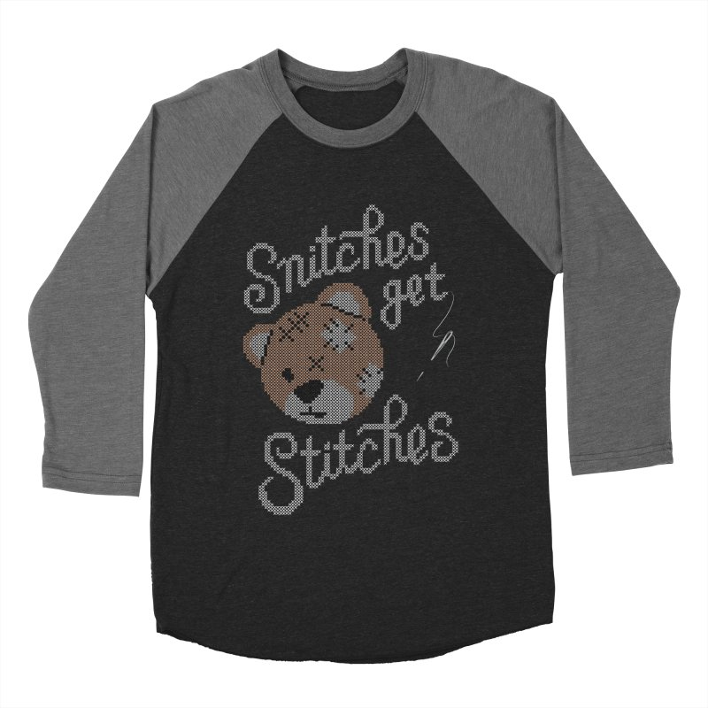Snitches Get Stitches Men's Baseball Triblend Longsleeve T-Shirt by CPdesign's Artist Shop