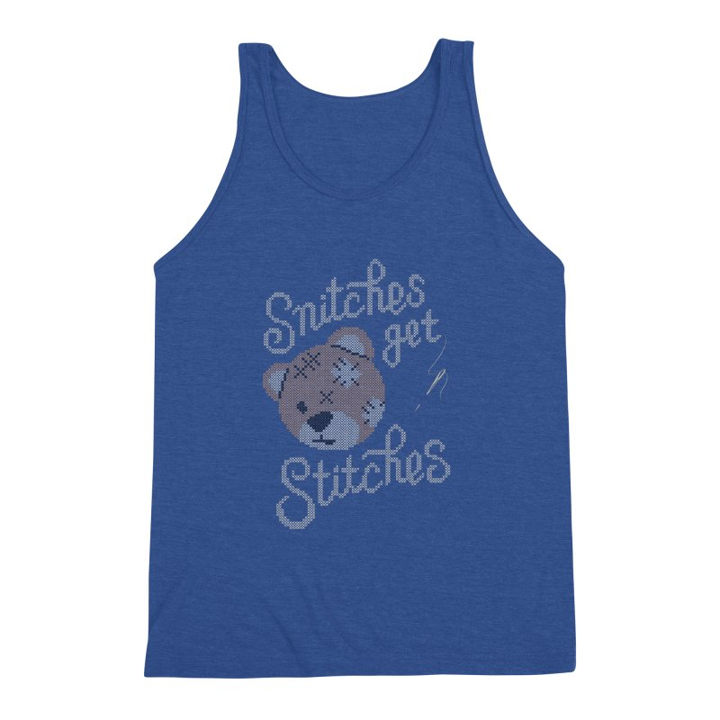 Snitches Get Stitches Men's Triblend Tank by CPdesign's Artist Shop