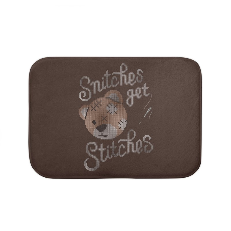 Snitches Get Stitches Home Bath Mat by CPdesign's Artist Shop