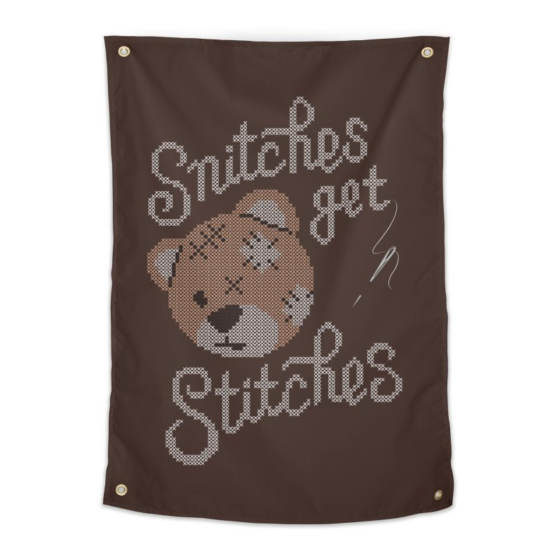 Snitches Get Stitches Home Tapestry by CPdesign's Artist Shop