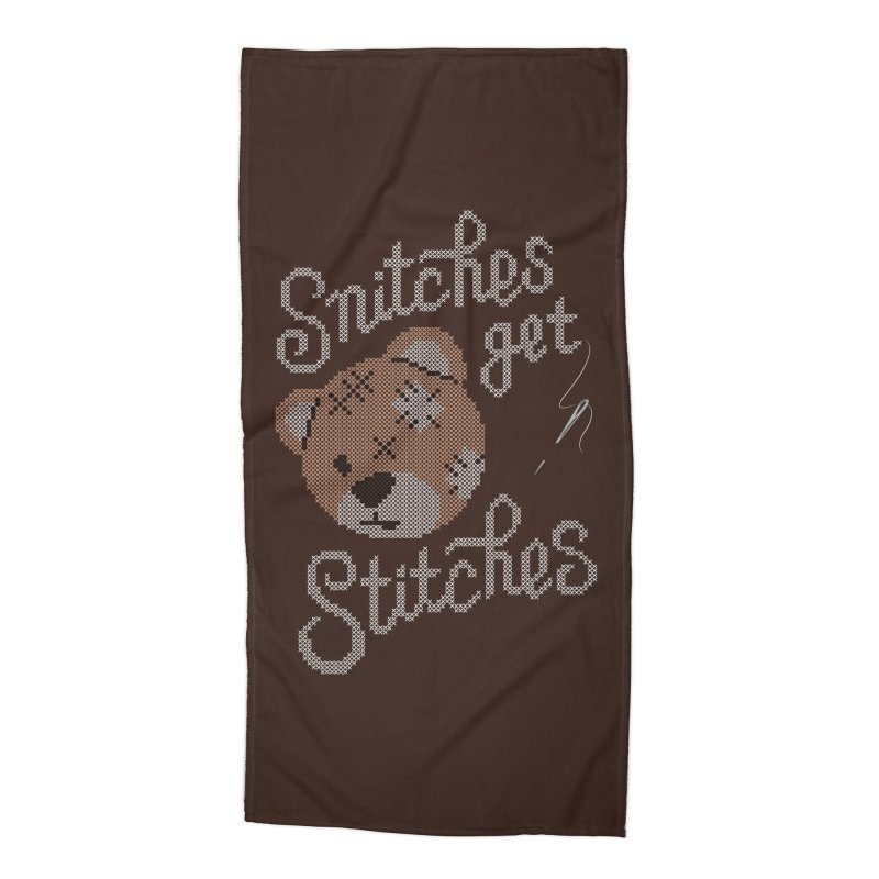 Snitches Get Stitches Accessories Beach Towel by CPdesign's Artist Shop