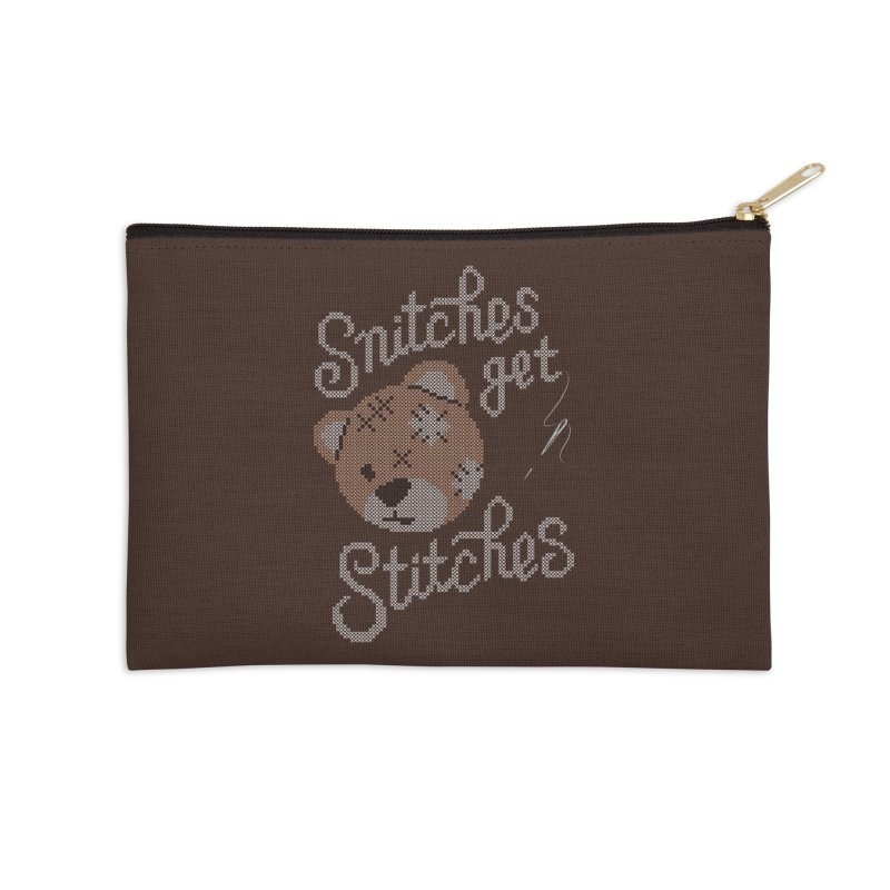 Snitches Get Stitches Accessories Zip Pouch by CPdesign's Artist Shop