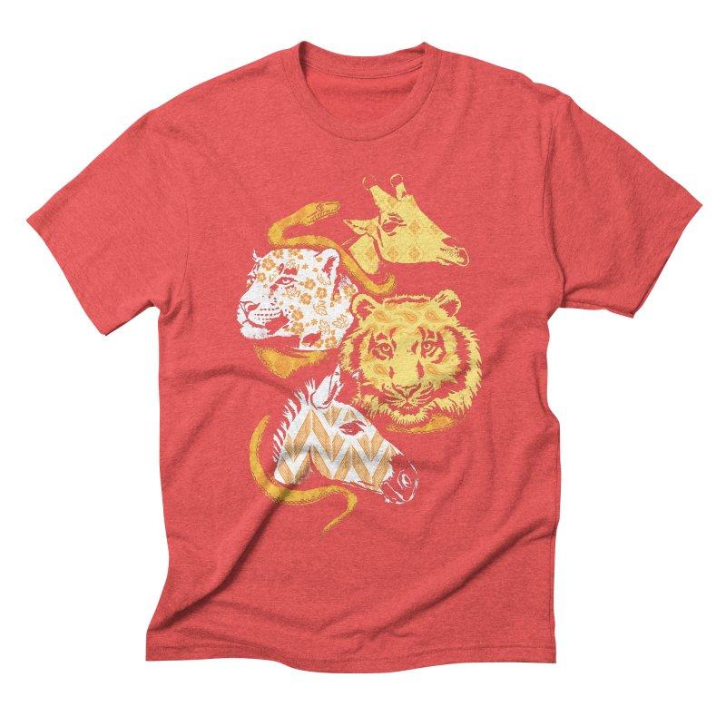 Animal Prints Men's Triblend T-shirt by CPdesign's Artist Shop