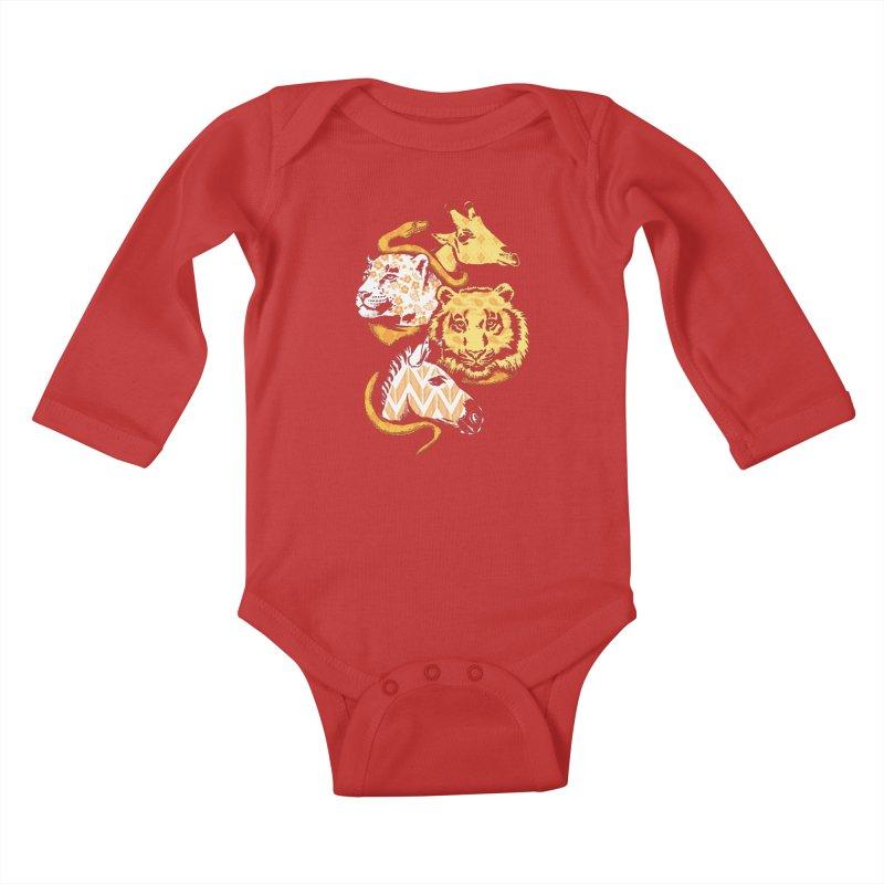 Animal Prints Kids Baby Longsleeve Bodysuit by CPdesign's Artist Shop