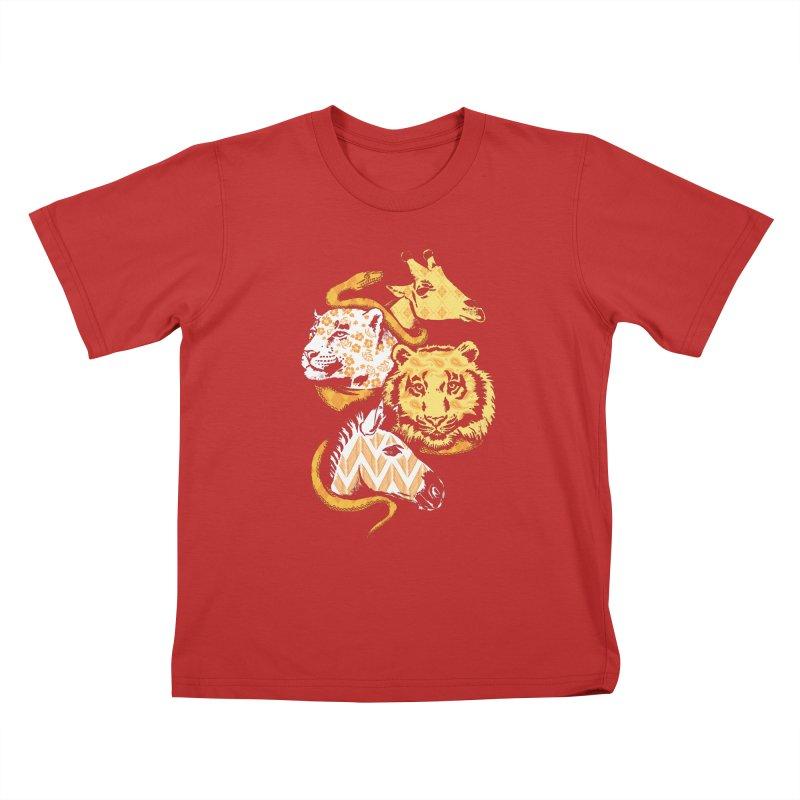 Animal Prints Kids T-shirt by CPdesign's Artist Shop