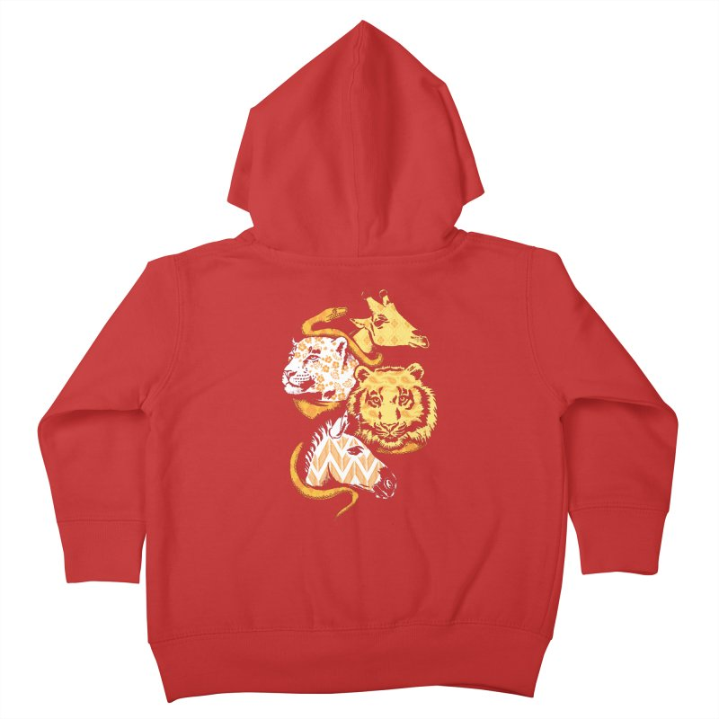 Animal Prints Kids Toddler Zip-Up Hoody by CPdesign's Artist Shop