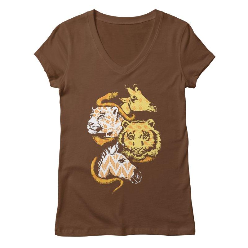 Animal Prints Women's V-Neck by CPdesign's Artist Shop