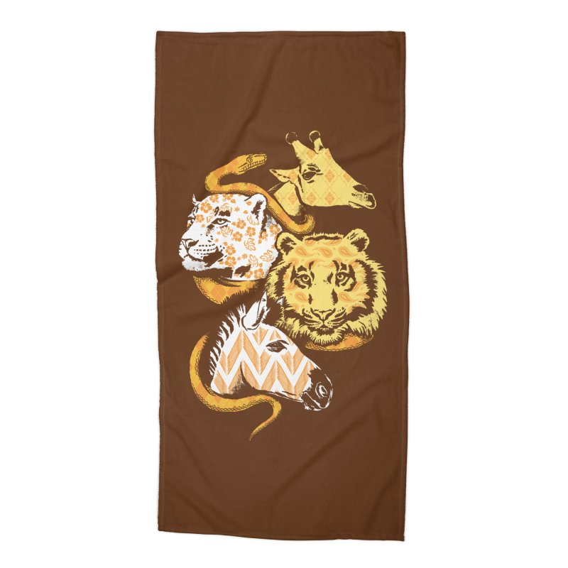 Animal Prints Accessories Beach Towel by CPdesign's Artist Shop