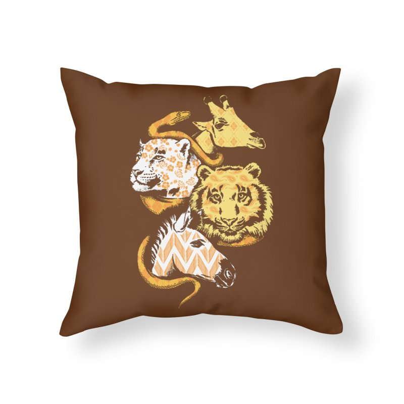 Animal Prints Home Throw Pillow by CPdesign's Artist Shop