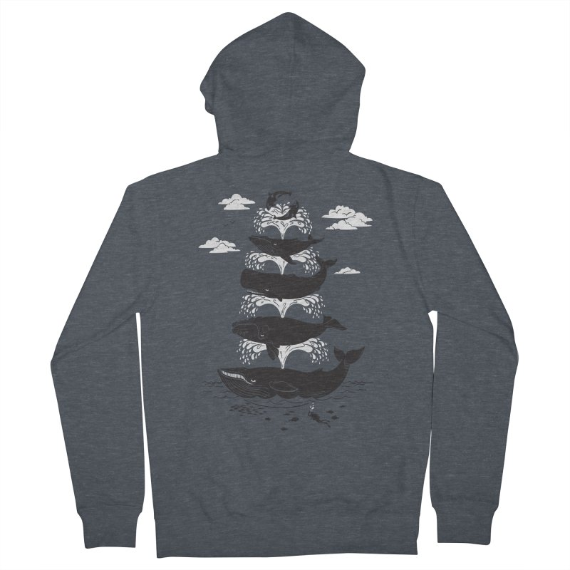 Whale of a Time Men's Zip-Up Hoody by CPdesign's Artist Shop