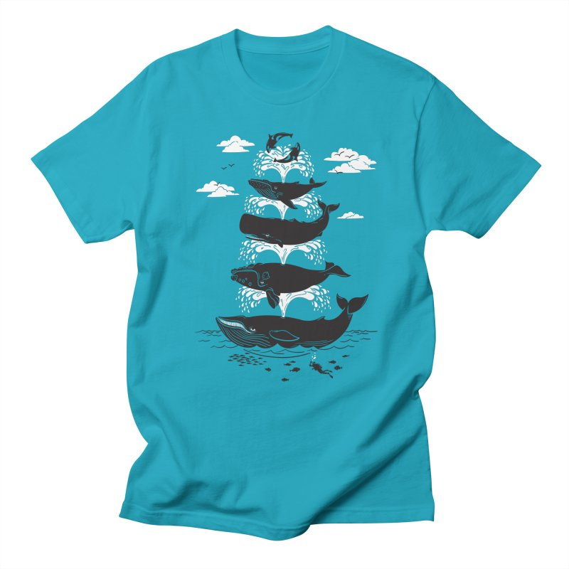 Whale of a Time Men's T-shirt by CPdesign's Artist Shop