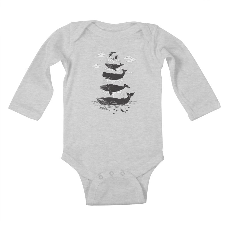 Whale of a Time Kids Baby Longsleeve Bodysuit by CPdesign's Artist Shop