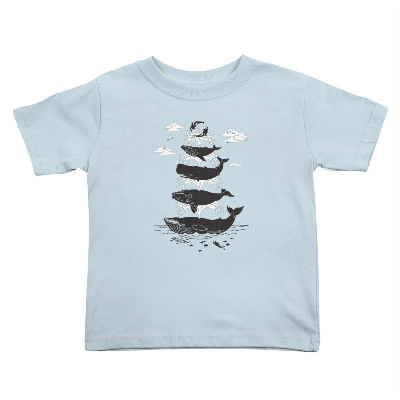 Whale of a Time Kids Toddler T-Shirt by CPdesign's Artist Shop