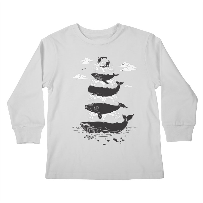 Whale of a Time Kids Longsleeve T-Shirt by CPdesign's Artist Shop