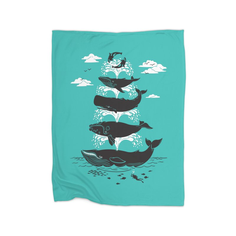 Whale of a Time Home Fleece Blanket by CPdesign's Artist Shop