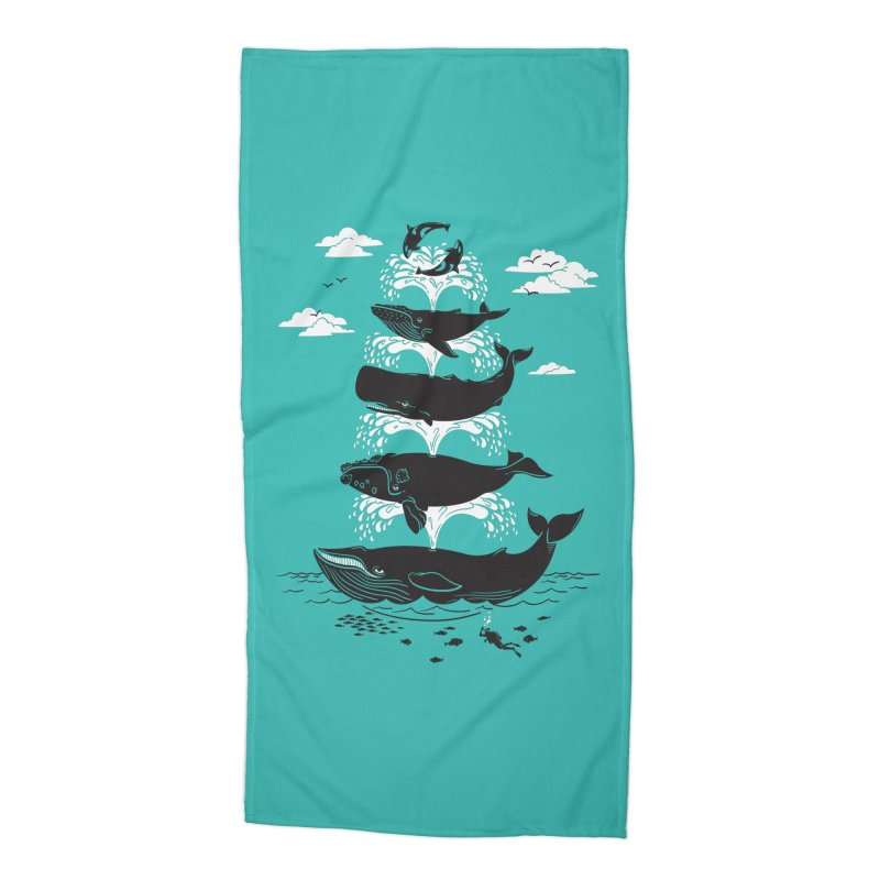 Whale of a Time Accessories Beach Towel by CPdesign's Artist Shop