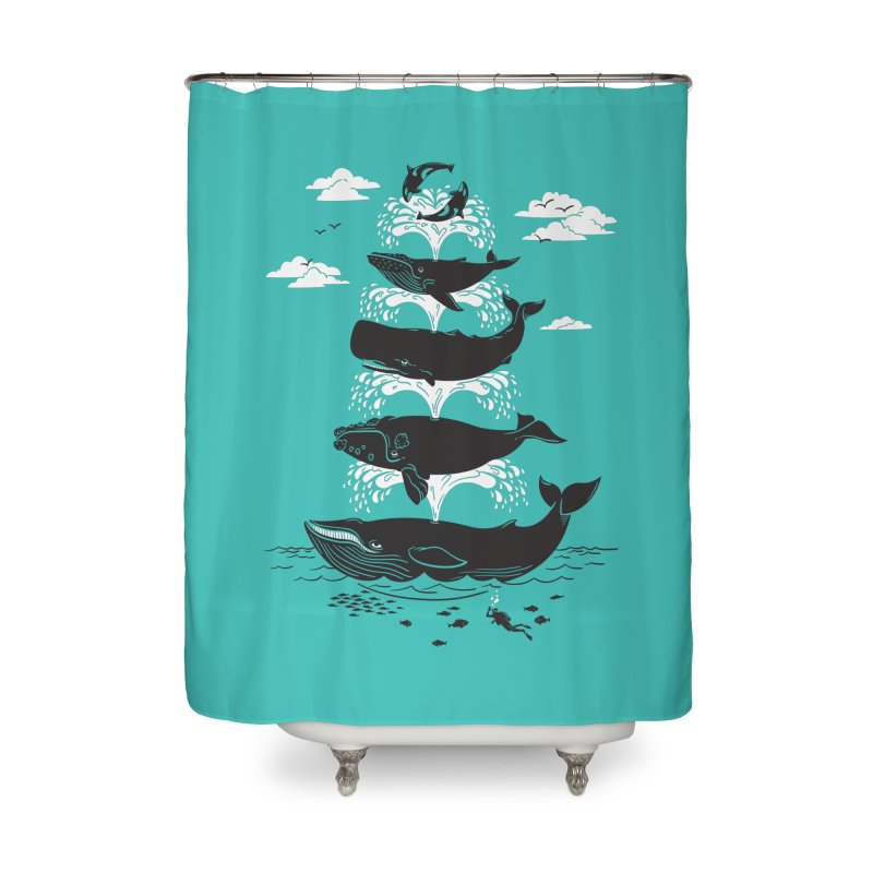 Whale of a Time Home Shower Curtain by CPdesign's Artist Shop