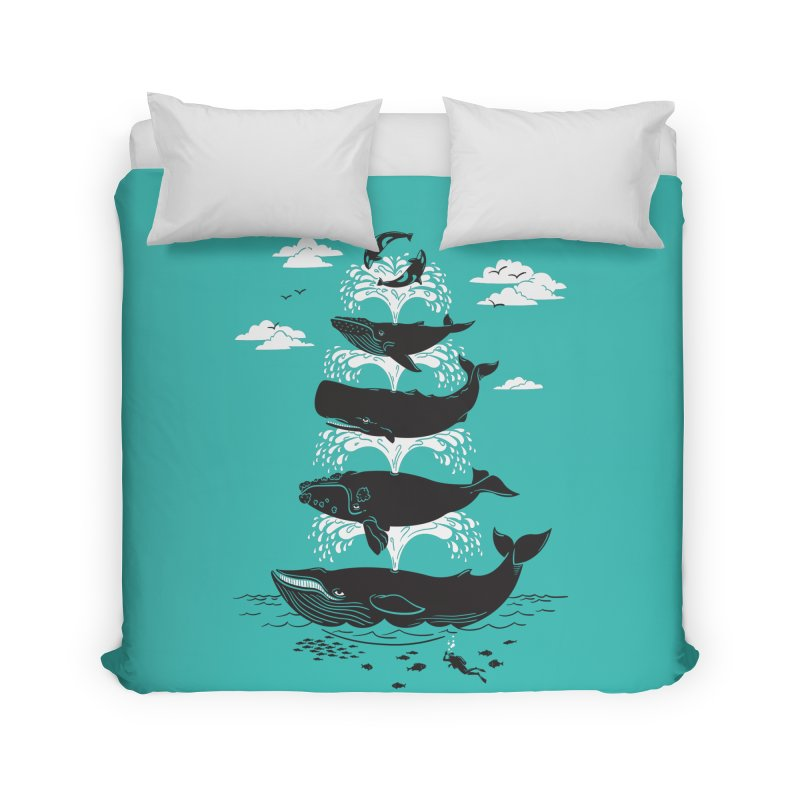Whale of a Time Home Duvet by CPdesign's Artist Shop