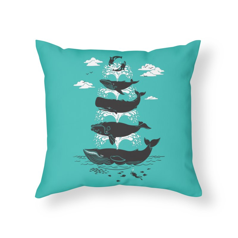 Whale of a Time Home Throw Pillow by CPdesign's Artist Shop