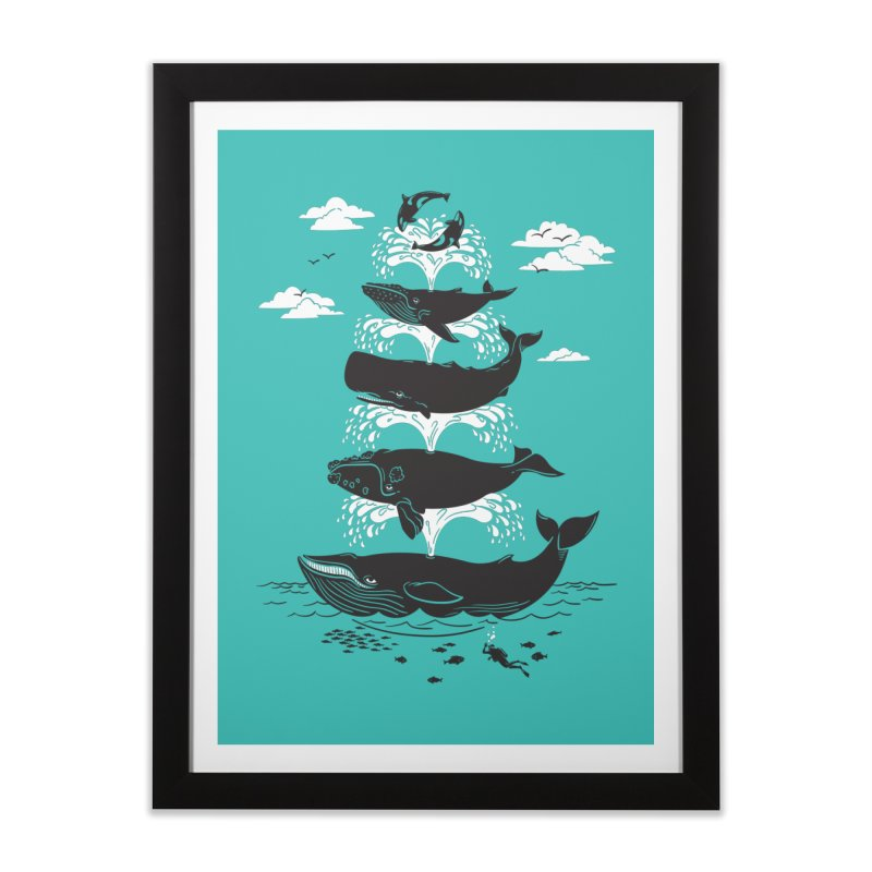 Whale of a Time Home Framed Fine Art Print by CPdesign's Artist Shop