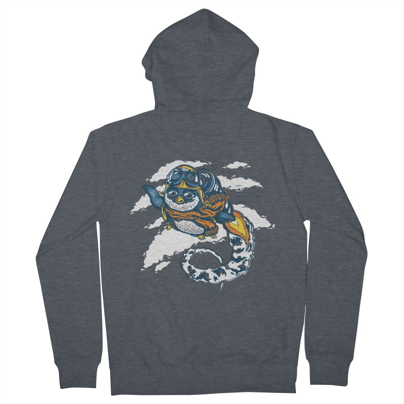 Flying Penguin Women's Zip-Up Hoody by CPdesign's Artist Shop