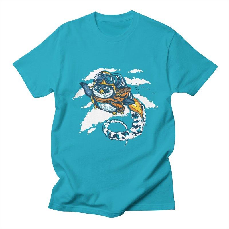 Flying Penguin Men's T-shirt by CPdesign's Artist Shop