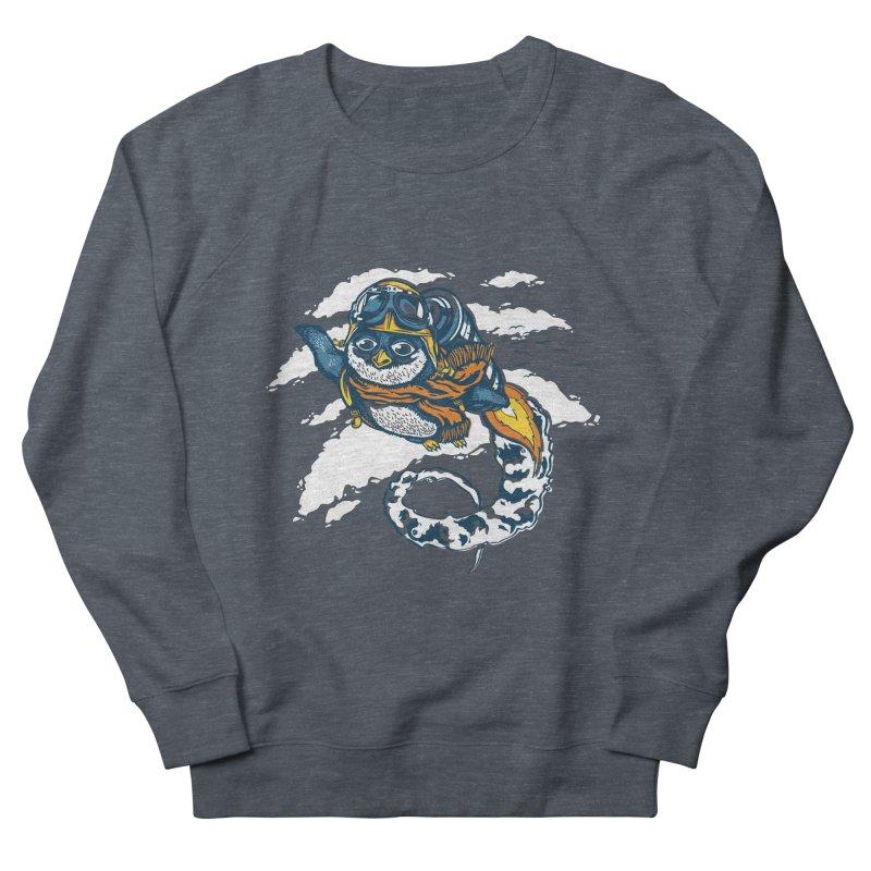 Flying Penguin Men's Sweatshirt by CPdesign's Artist Shop