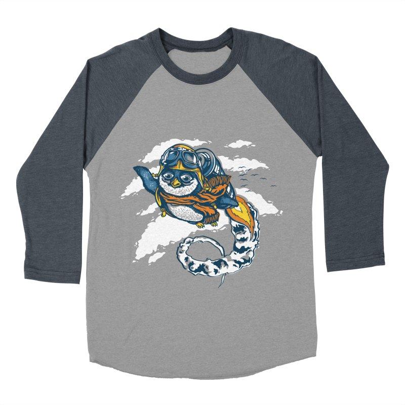 Flying Penguin Women's Baseball Triblend T-Shirt by CPdesign's Artist Shop