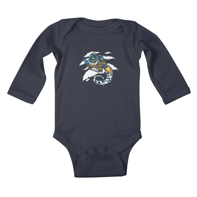 Flying Penguin Kids Baby Longsleeve Bodysuit by CPdesign's Artist Shop