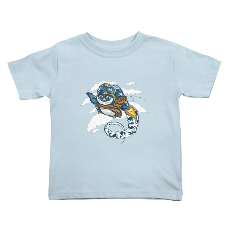 Flying Penguin Kids Toddler T-Shirt by CPdesign's Artist Shop