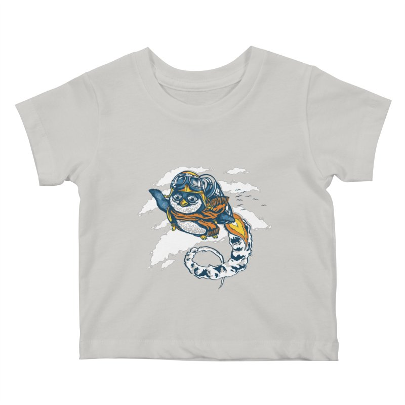 Flying Penguin Kids Baby T-Shirt by CPdesign's Artist Shop