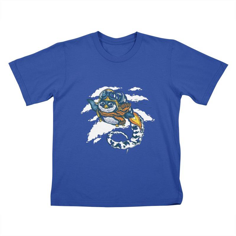 Flying Penguin Kids T-shirt by CPdesign's Artist Shop