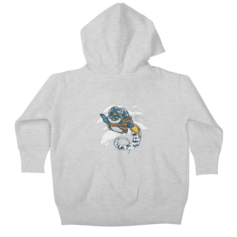 Flying Penguin Kids Baby Zip-Up Hoody by CPdesign's Artist Shop